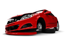 Car accident. 3D render image representing a car accident Royalty Free Stock Photos