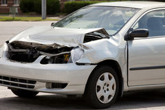 Car Accident. Damage car from an automotive accident Royalty Free Stock Photo