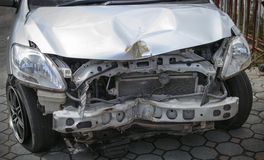 Car accident. Damage caused by accidents stock photo
