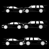 Car accident that damaged Royalty Free Stock Images