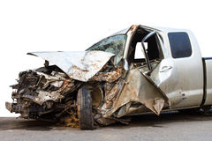 Car accident demolished Stock Photos