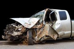 Car accident demolished Stock Photography