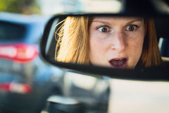 Car Accident - Driver in Shock Royalty Free Stock Images