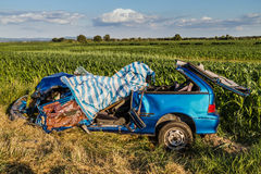 Car accident . Royalty Free Stock Photo