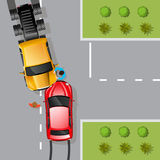 Car Accident Illustration Stock Photo