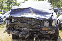 Car accident, damage car Royalty Free Stock Photography