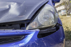 Car accident, damage car Stock Images