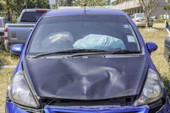 Car accident, damage car Stock Photo