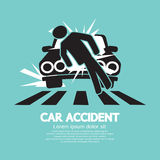 Car Accident Knocked Down A Man Stock Images