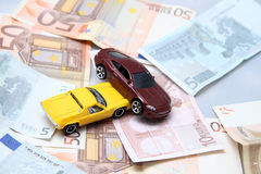 Car accident and money Royalty Free Stock Photo