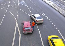 The car accident in Moscow Stock Image