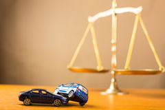 Car accident need to justice Stock Photography