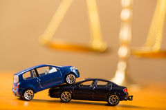 Car accident need to justice Royalty Free Stock Images