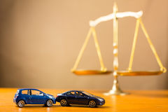 Car accident need to justice Stock Images