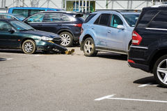 Car accident in the parking lot. royalty free stock photos