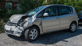 Car accident. After a rear-end collision Royalty Free Stock Images