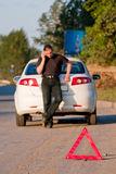 Car accident on a road stock photography