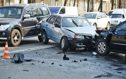 Car accident. On the road Royalty Free Stock Photos