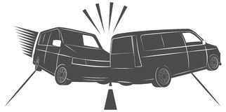 Car accident on the road, cars crash Royalty Free Stock Photography