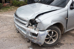 Car accident. Satun - Thailand June 20, 2014: Truck collides with motorcycle accidents on the road Stock Photos