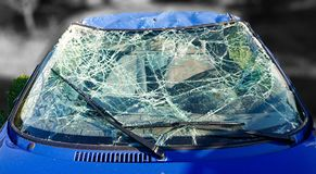 Free Car Accident Smashed Windscreen Abstract Danger Royalty Free Stock Photo - 166300975
