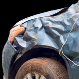 Car accident , There is damage , on black background Royalty Free Stock Image
