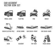 Car Accident Vector Icon Illustration. Vector Icon Illustration : Car Accident Stock Photography