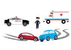 Car accident - vector illustration vector illustration