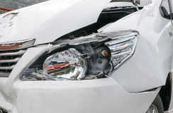 Car accident vehicle destroyed Royalty Free Stock Image