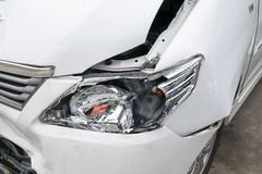 Car accident vehicle destroyed Royalty Free Stock Photo