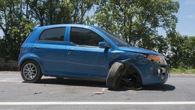 The car accident was hit in Koh Chang, Trat, Thailand.  stock images