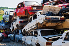The car accident where the damage was huge Stock Photography