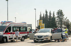 Car accident where injuries Stock Photos