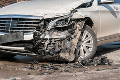 Car in an accident Stock Images