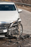 Car in an accident Stock Image