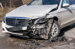 Car in an accident Stock Photos