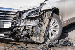 Car in an accident Royalty Free Stock Photos