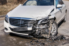 Car in an accident Royalty Free Stock Photography