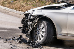 Car in an accident Royalty Free Stock Images
