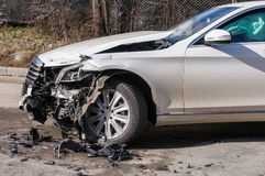 Car in an accident Stock Photo