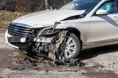 Car in an accident Stock Photography
