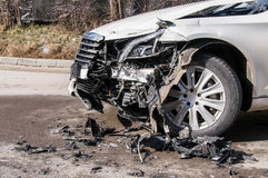 Car in an accident Royalty Free Stock Photo