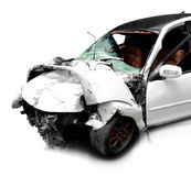 Car in an accident Royalty Free Stock Image