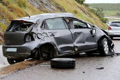 Car Accident and Wreckage Royalty Free Stock Images