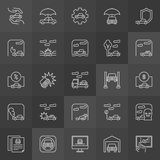 Car accidents icons Stock Images