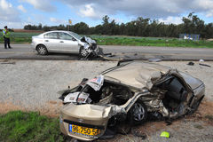 Car Accidents in Israel royalty free stock photo
