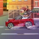 Car Accidient. Realistic Caricature Cartoon Style. Video Game Digital CG Artwork, Concept Illustration Design vector illustration