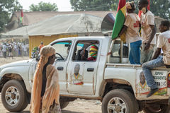 Car with activists heading to an eletoral campaign rally Stock Photo