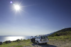 Car and Adriatic Sea Croatia Europe Royalty Free Stock Images