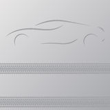 Car advertisement wallpaper design Stock Photography